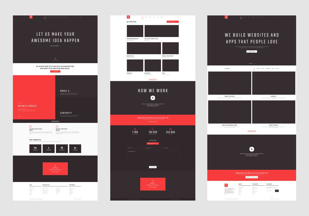 SAGE — Free PSD Template on Behance