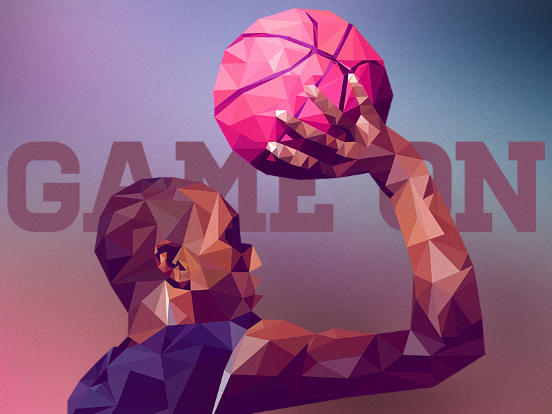 Low Poly player basketball game ball sport lowpoly