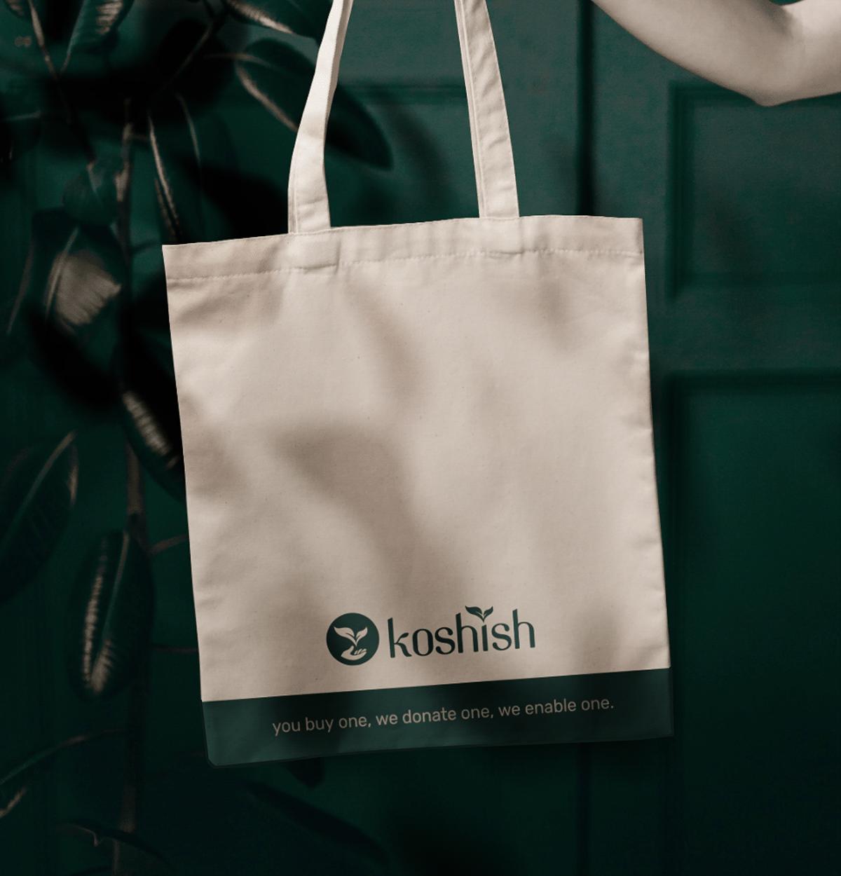 brand branding  Clothing Ecommerce Fashion  Garments koshish natural typography