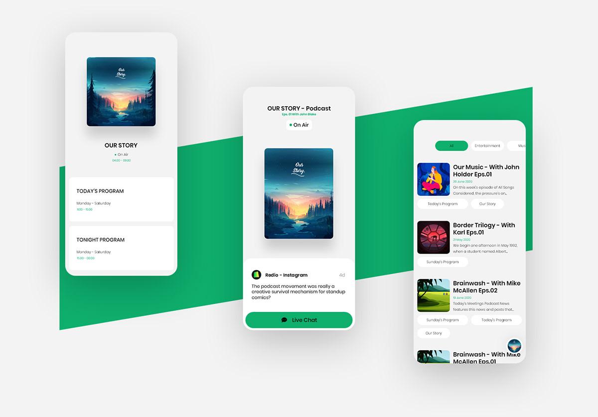 content design Interaction design  Minimalism Radio social media system Website automation software