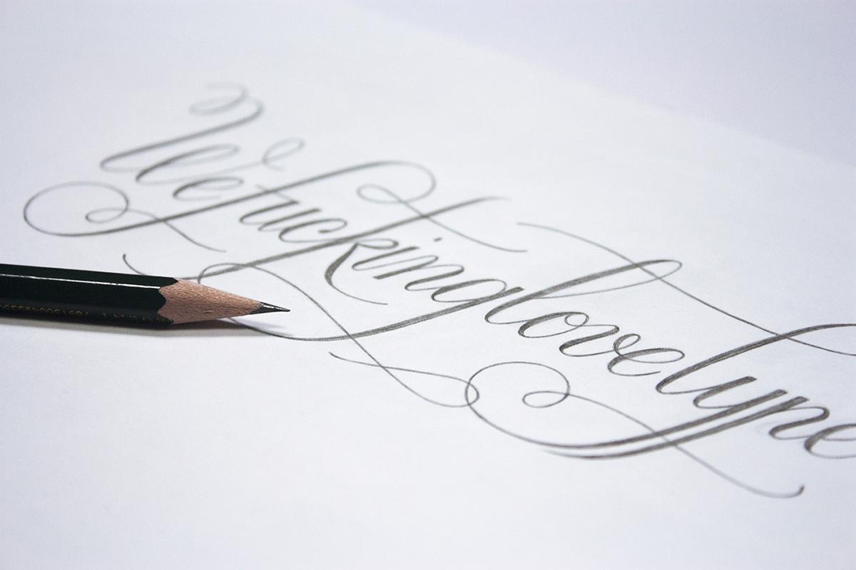 lettering editorial plomo71 type postcard