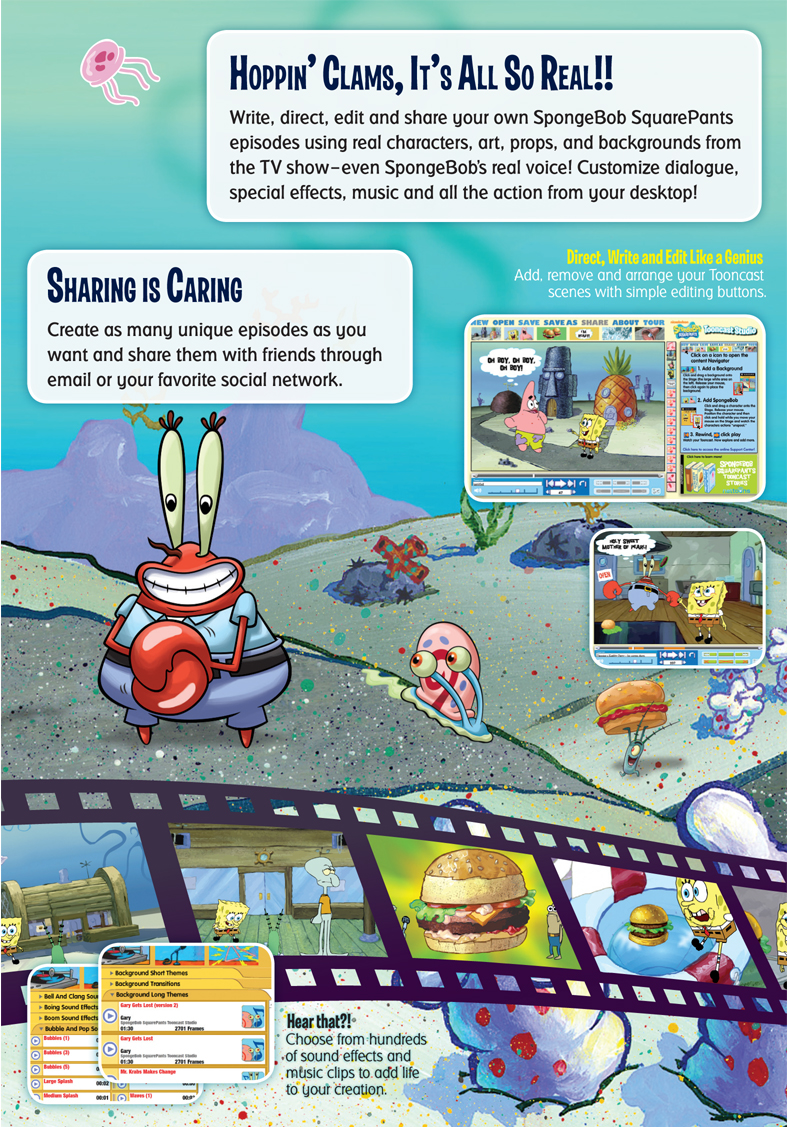 Packaging: SpongeBob SquarePants' Tooncast Studio on Behance