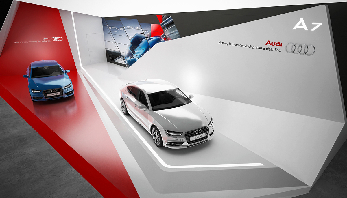 Exhibition Stand Design Template : Audi exhibition stand on behance