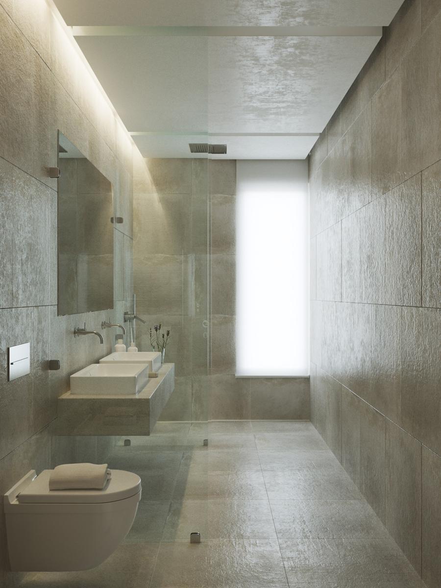 corona render  bathroom neutral colors 3d max