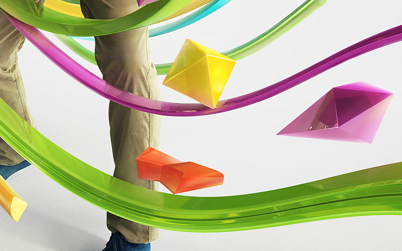 nvidia graphic shapes colors 3D CGI icons model lifestyle abstract Real effect flow chart