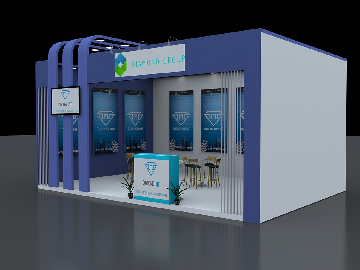 3d Exhibition Stall Design Job : Exhibition d stall design on student show