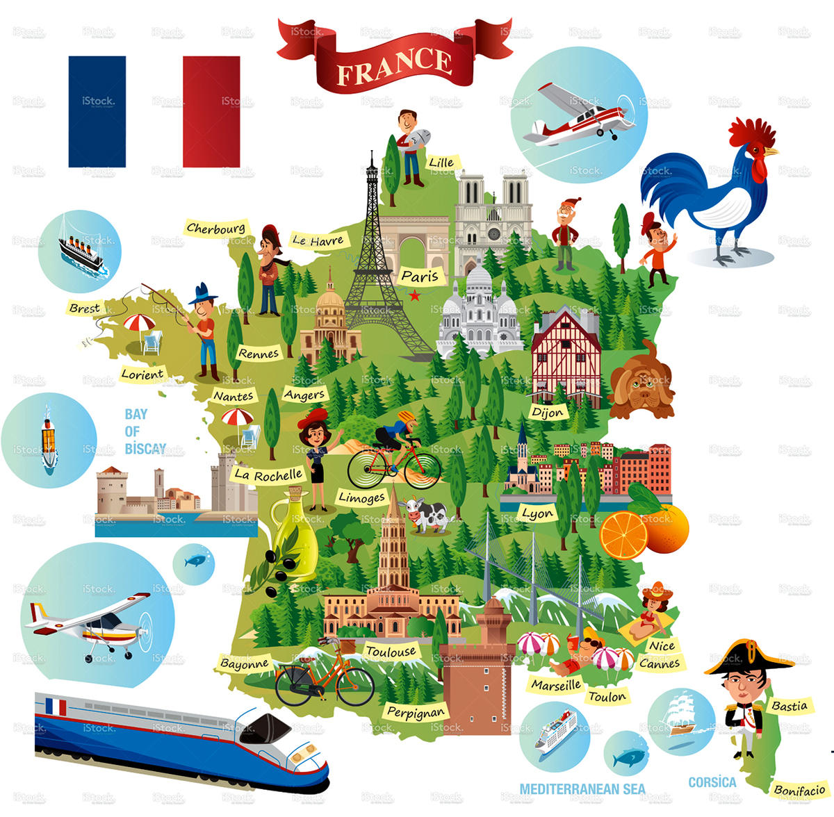 Cartoon map of france on behance gumiabroncs Choice Image