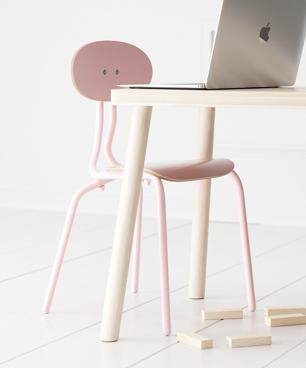 3dsmax chair child children furniture Interior kid Solidworks