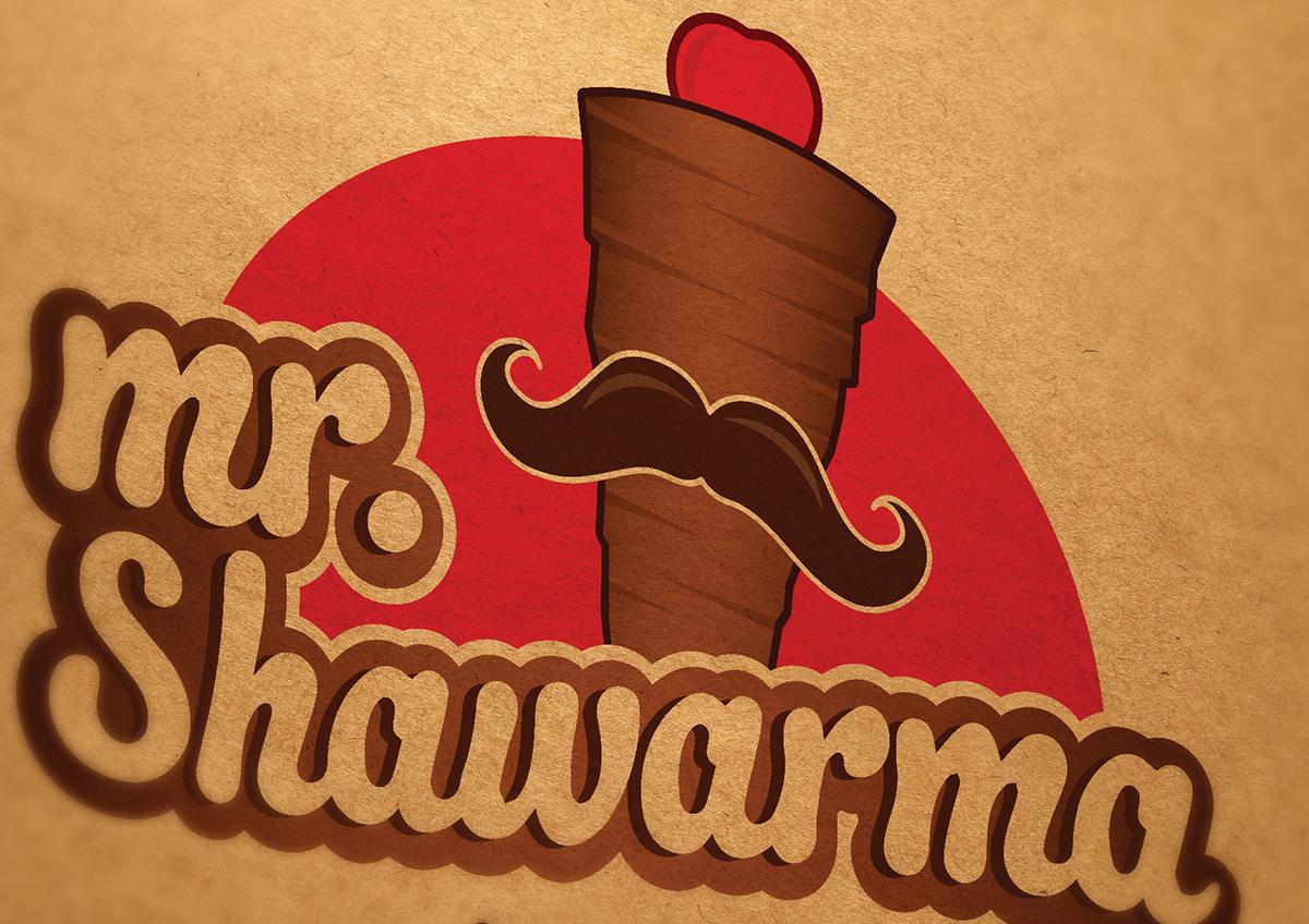 Food  shawarma logo Fast food