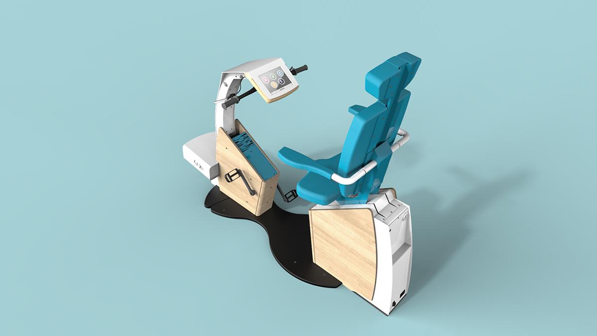 product design  design produit industrial design  design industriel rééducation velo Bike Bicycle videogame jeu video