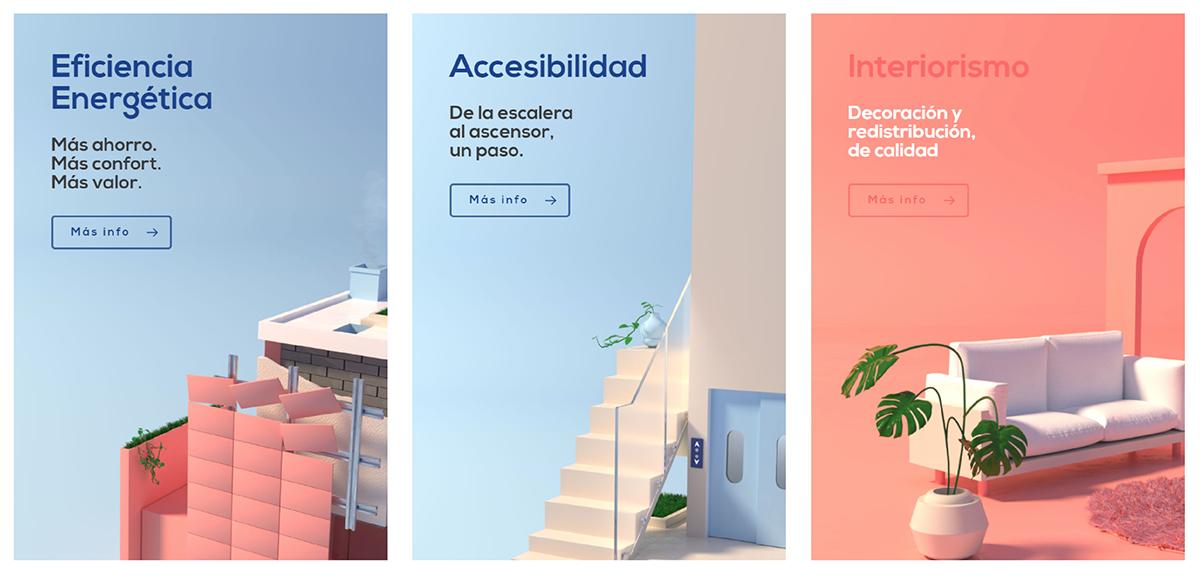 3D graphic design  motion graphics  architecture building city eco interiorism Energy saving coral