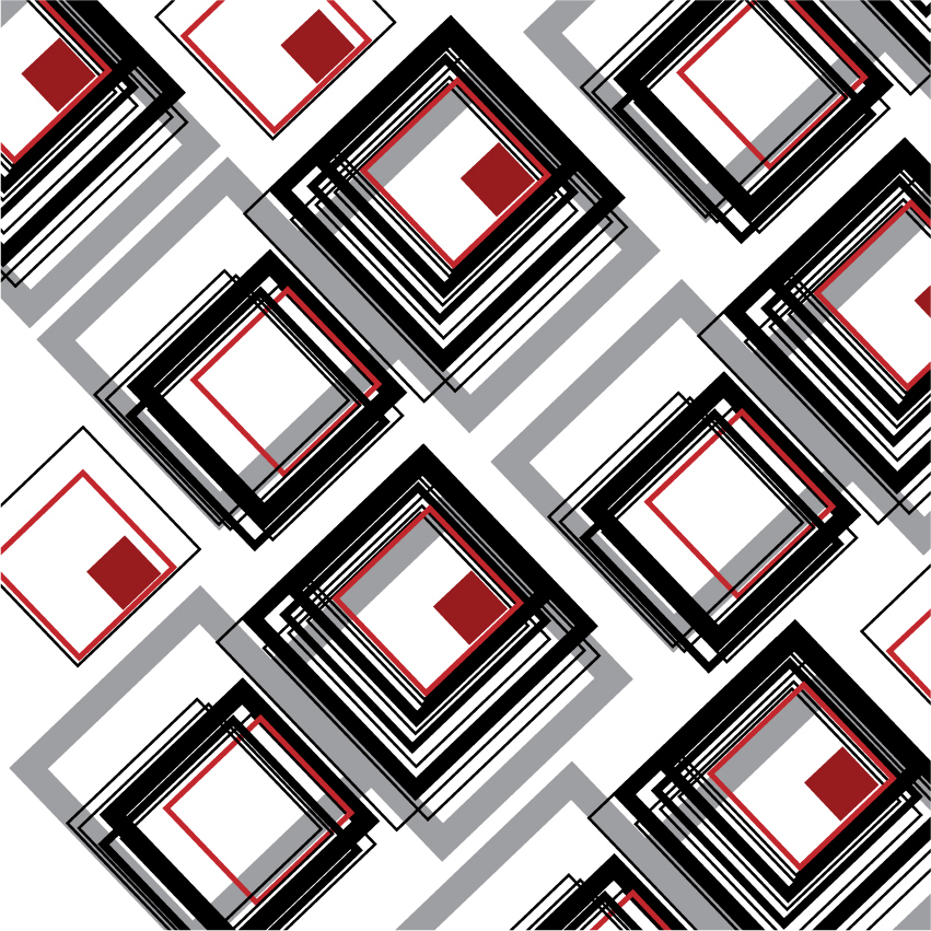 surface design wall art black red city pattern abstract geometric color Urban grey lines