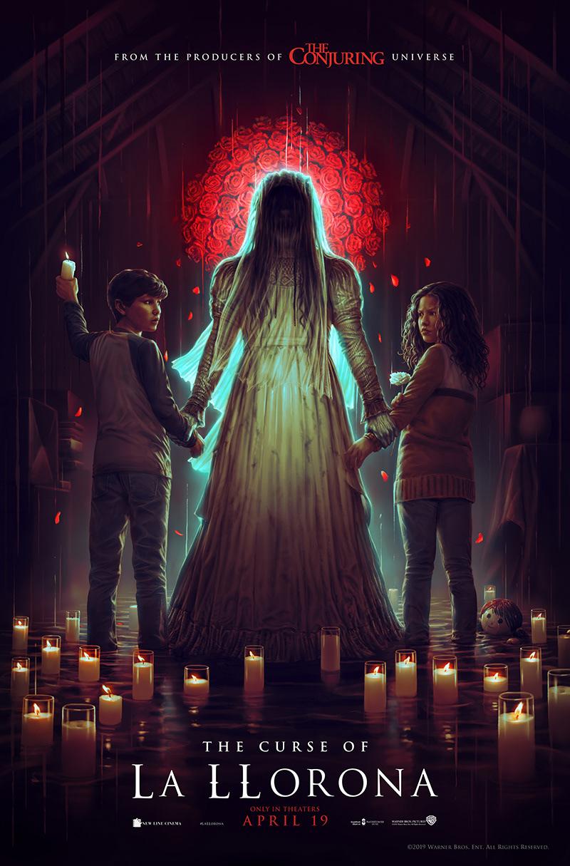 La Llorona warner bros MEOKCA horror film poster art New Line Cinema michael chaves Digital Art  ILLUSTRATION