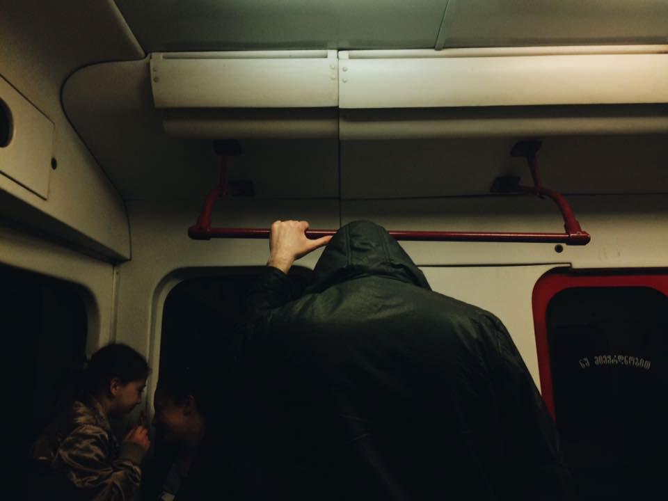 subway bus people tbilisi Georgia