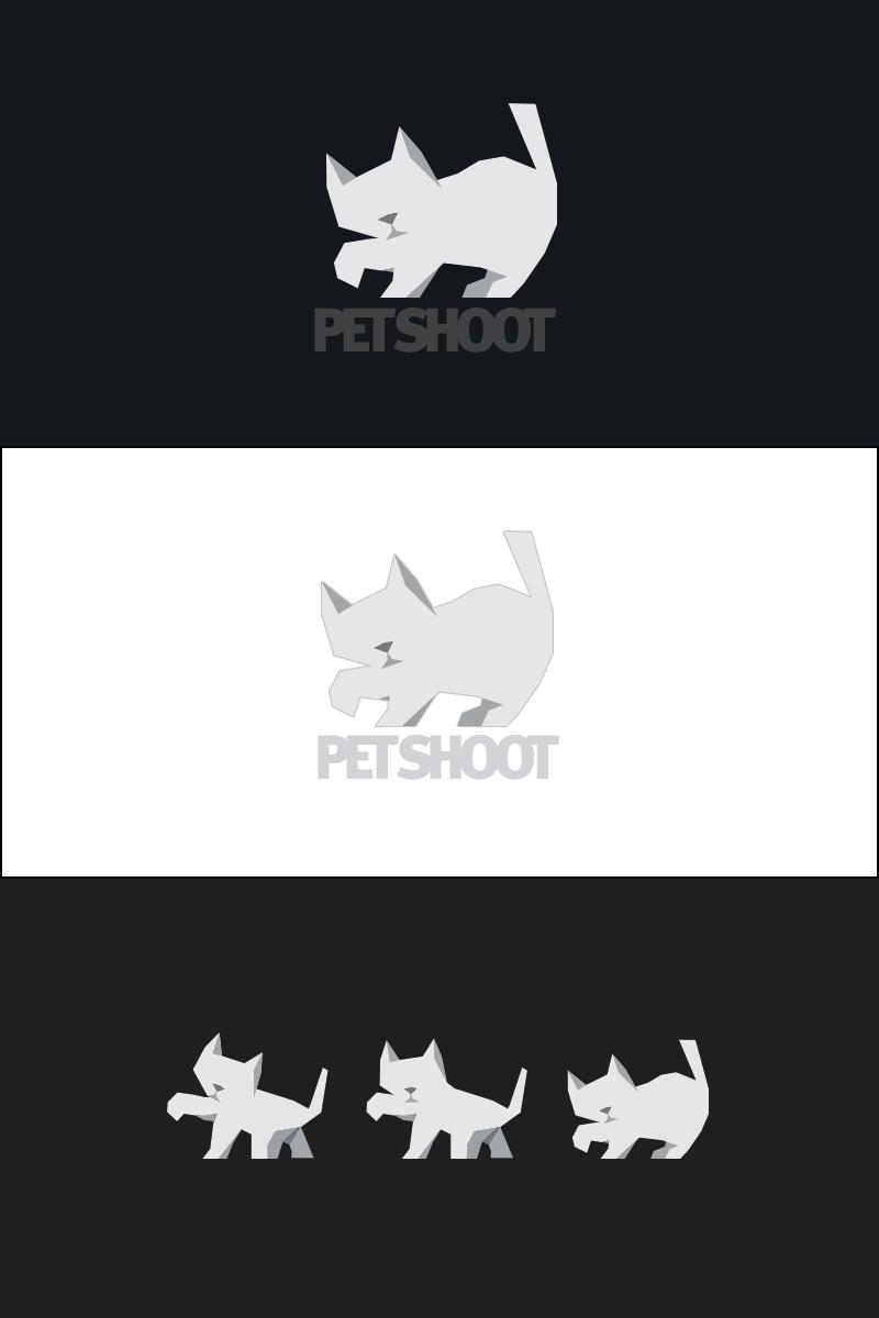 logo graphic desing design origami  tangram Cat animal
