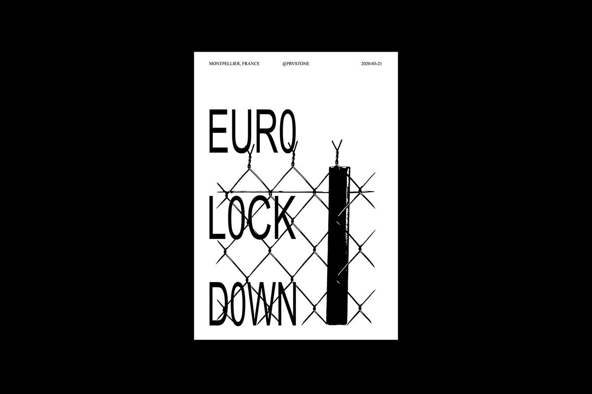Brutalism collab Coronavirus COVID-19 Europe european collaboration grid laser Riso trash