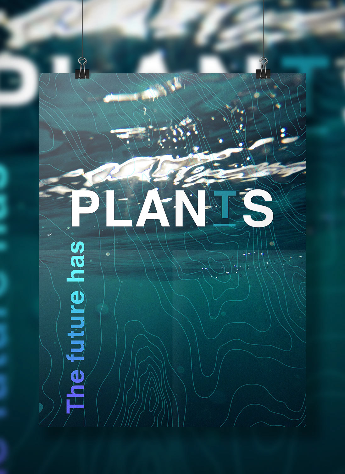 plants project is an environmental awareness campaign provoking the public through a series of poster designs to raise awareness of sea levels rising
