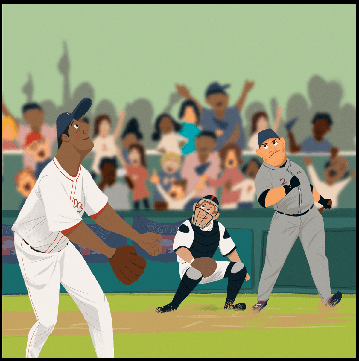 Image may contain: baseball, person and outdoor