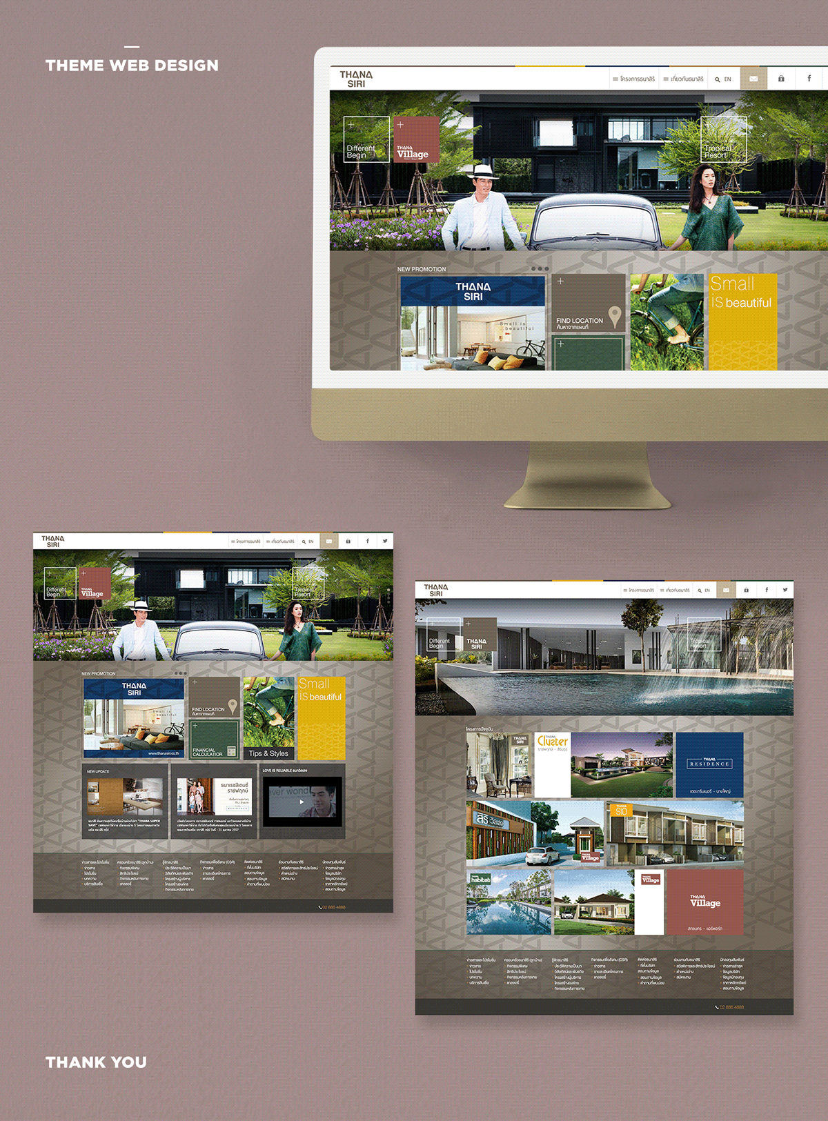 Theme design for website