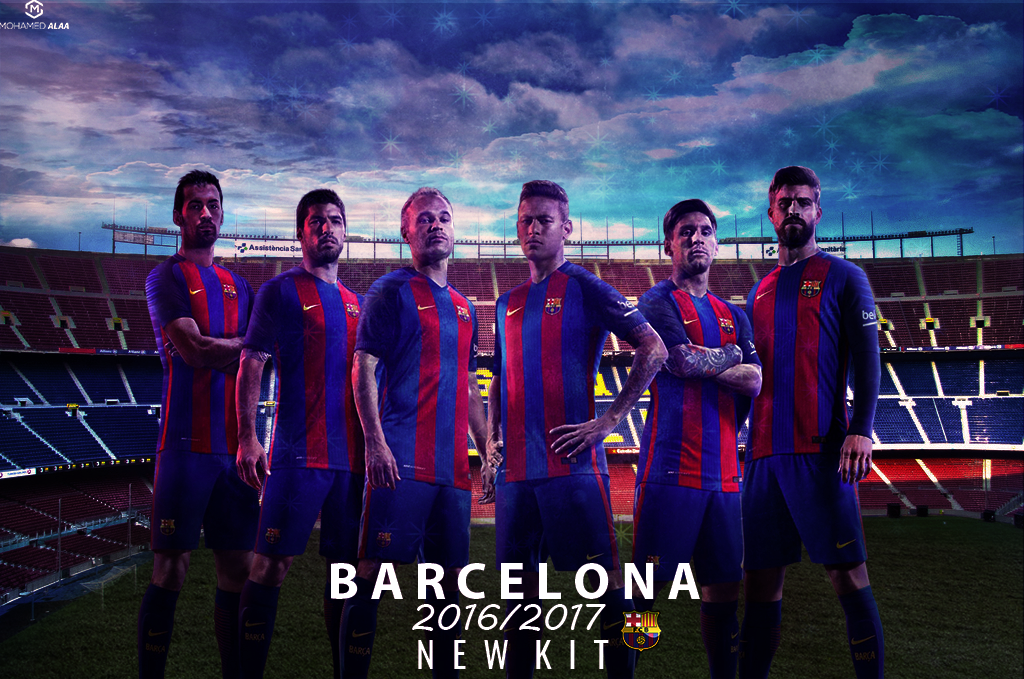 BARCELONA NEW KIT WALLPAPER 2016 2017 On Behance