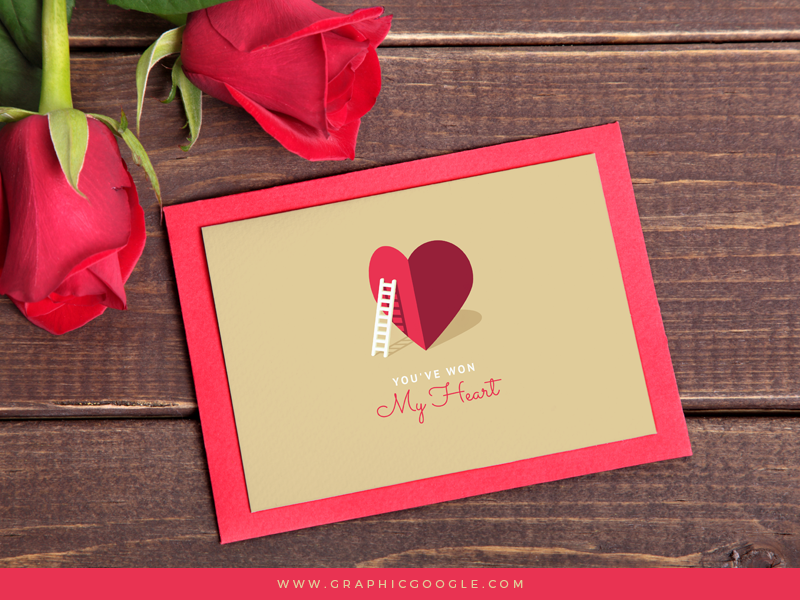 free my heart valentine card template for lovers on behance