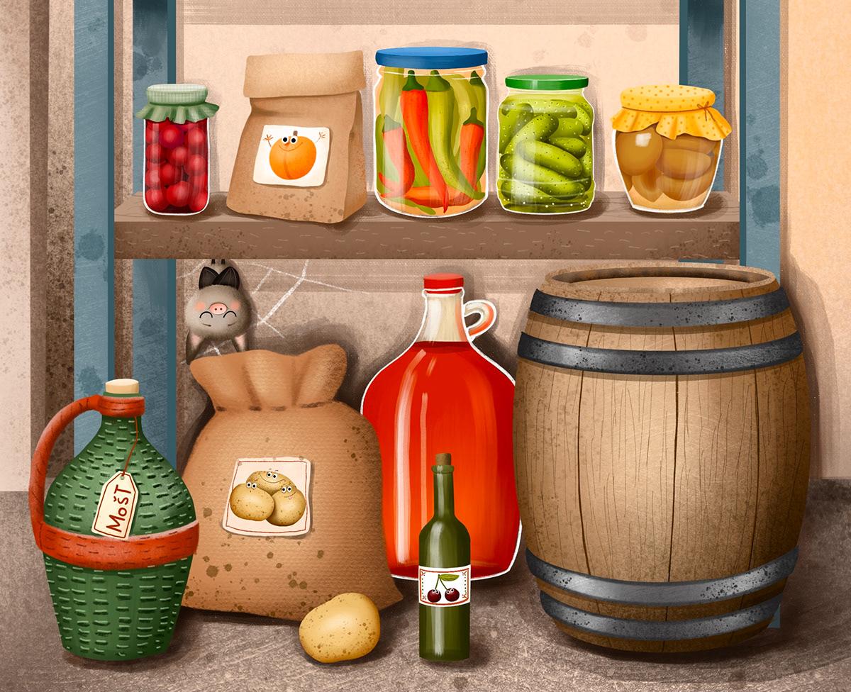 animals bat book Cellar children childrens book childrens illustration cute ghost Halloween