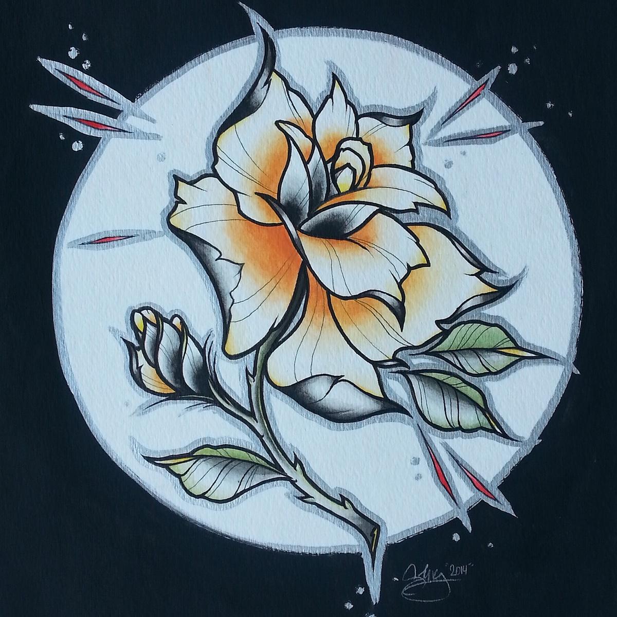 spray paint Marker stencil stenciling lantern horror Roses filigree bat dracula Victorian Lamp canvas prismacolor colored pencil