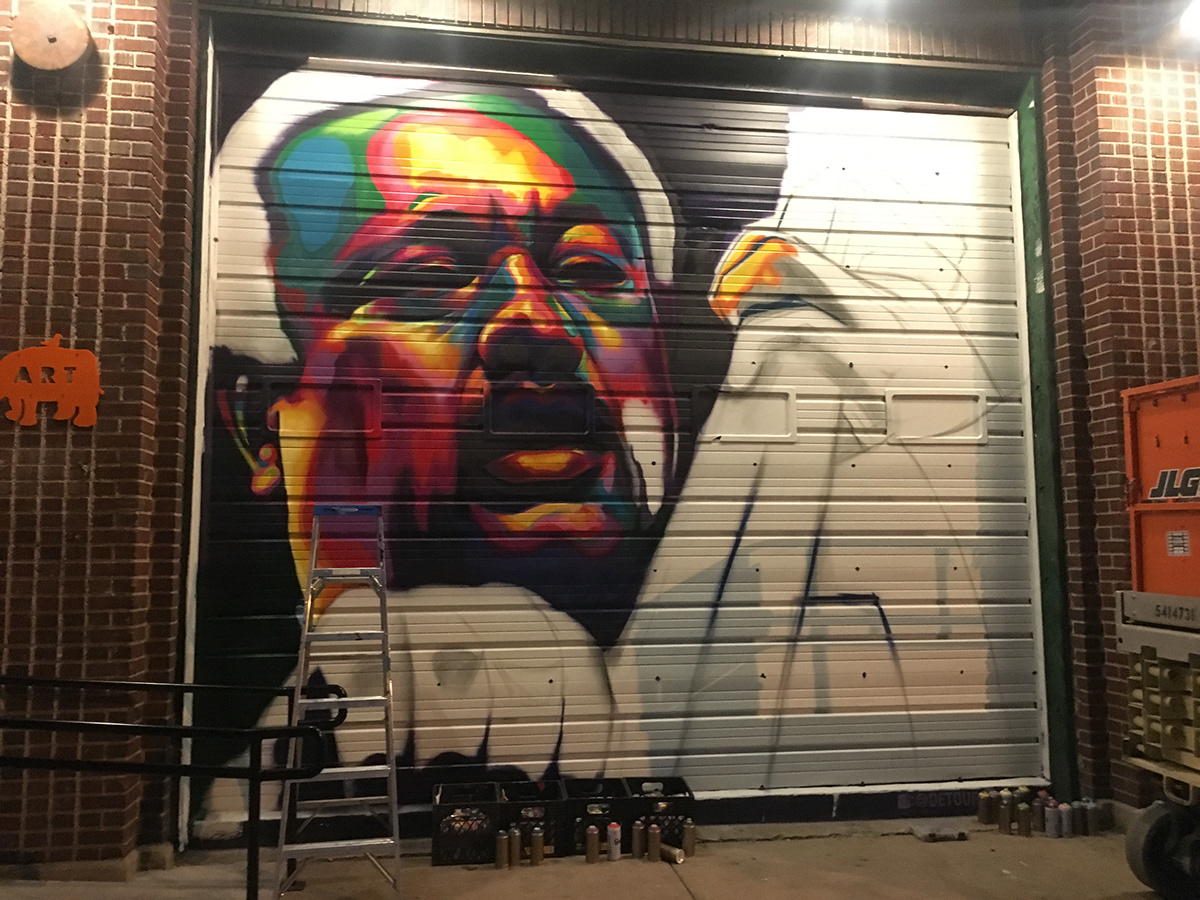 Image may contain: painting, indoor and graffiti