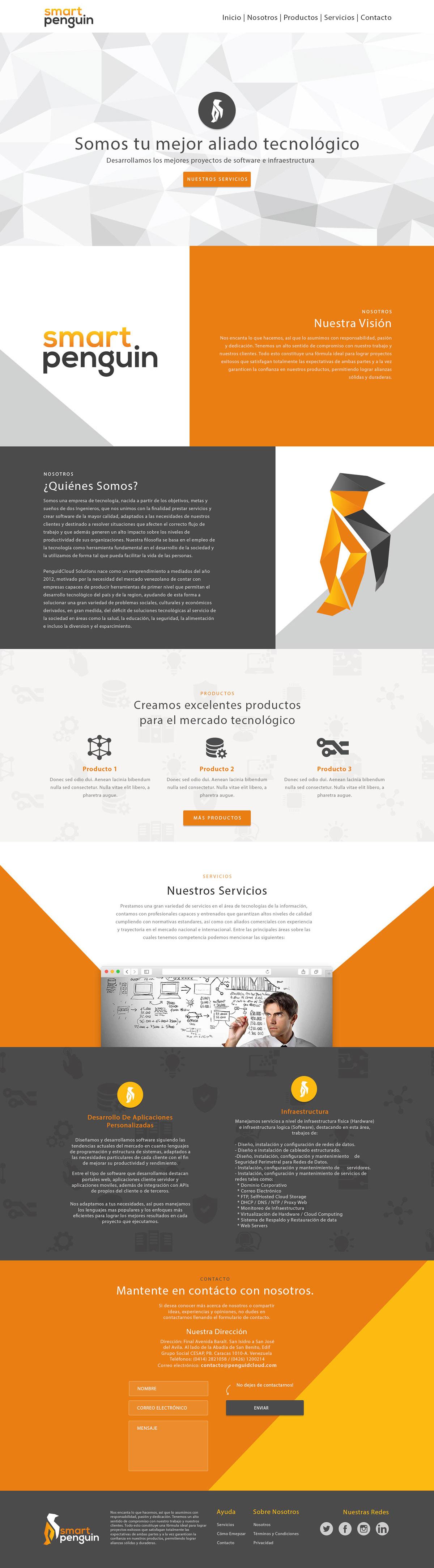 geometric,penguin,Rebrand,Website