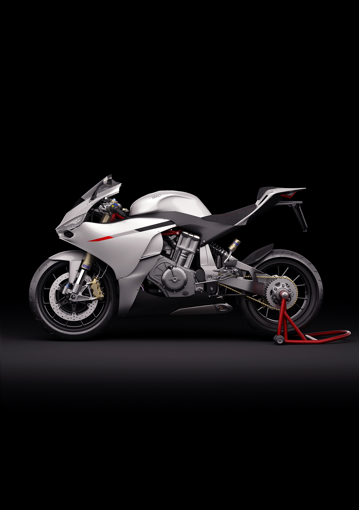 motorbike motocycle Bike superbike Audi design Alessandro Lupo 3D concept