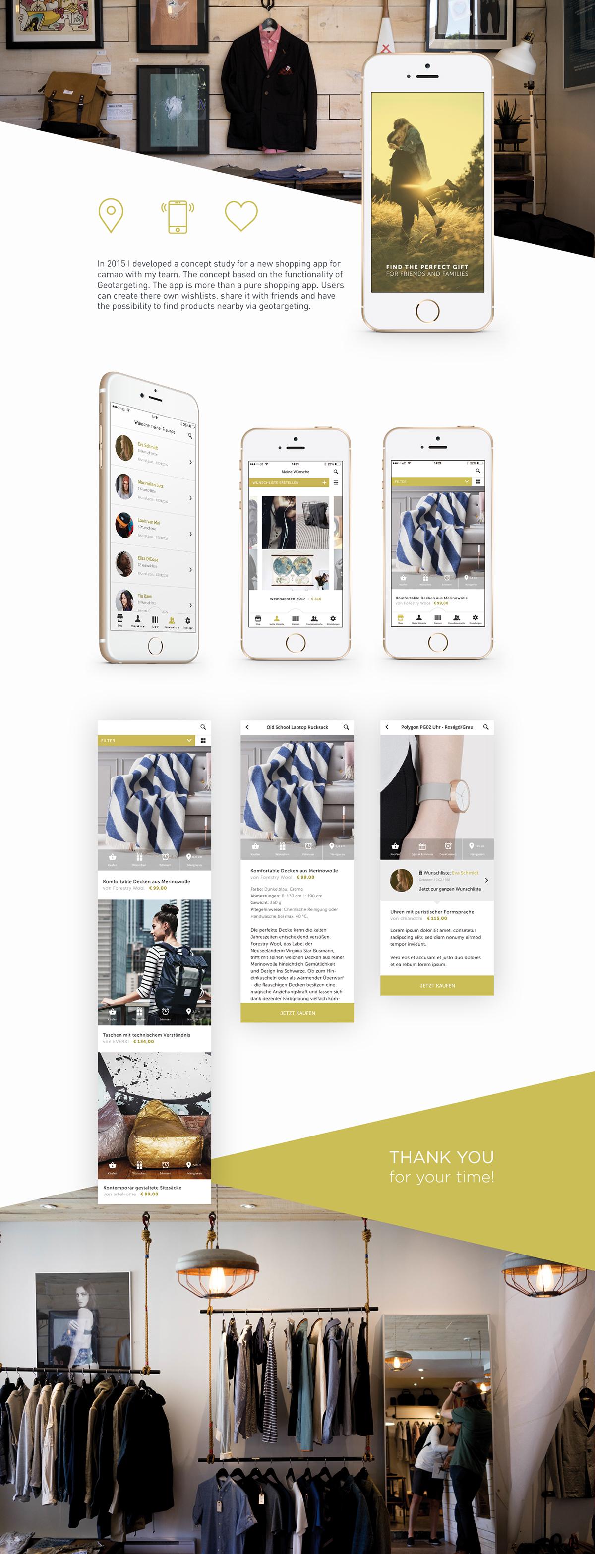 user interface shopping app app mobile