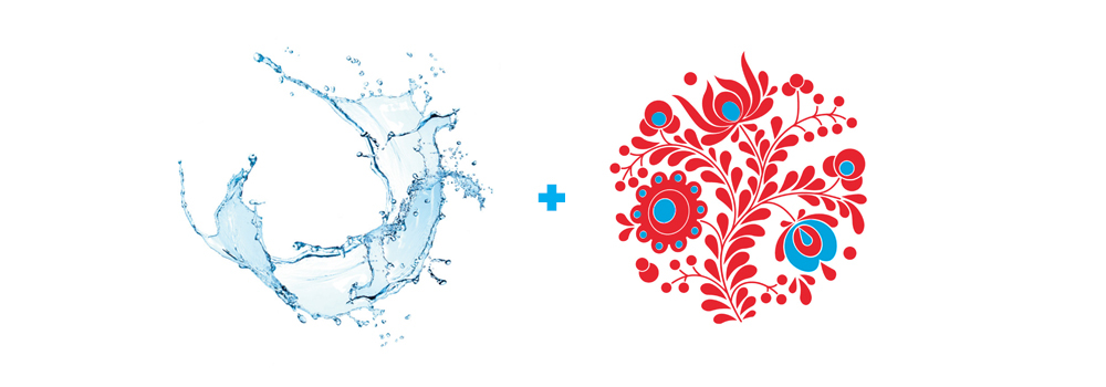 fina identity budapest world championship water geometric swim icon set Interior colorful sport infographic blue fresh