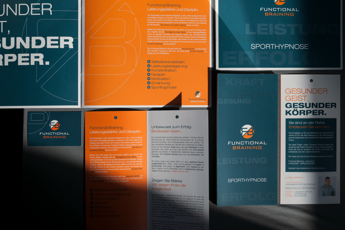 Corporate Design print broschure hypnose sport logodesign Quadrat #hp03