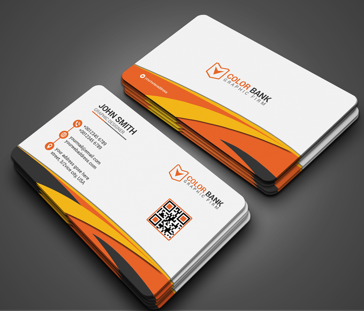 Free PSD files, Business Card on Behance