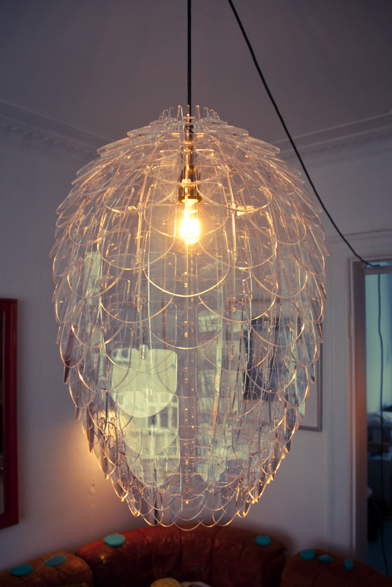 Pinecone Clear Laser Cut Acrylic Pendant Lamp On Behance
