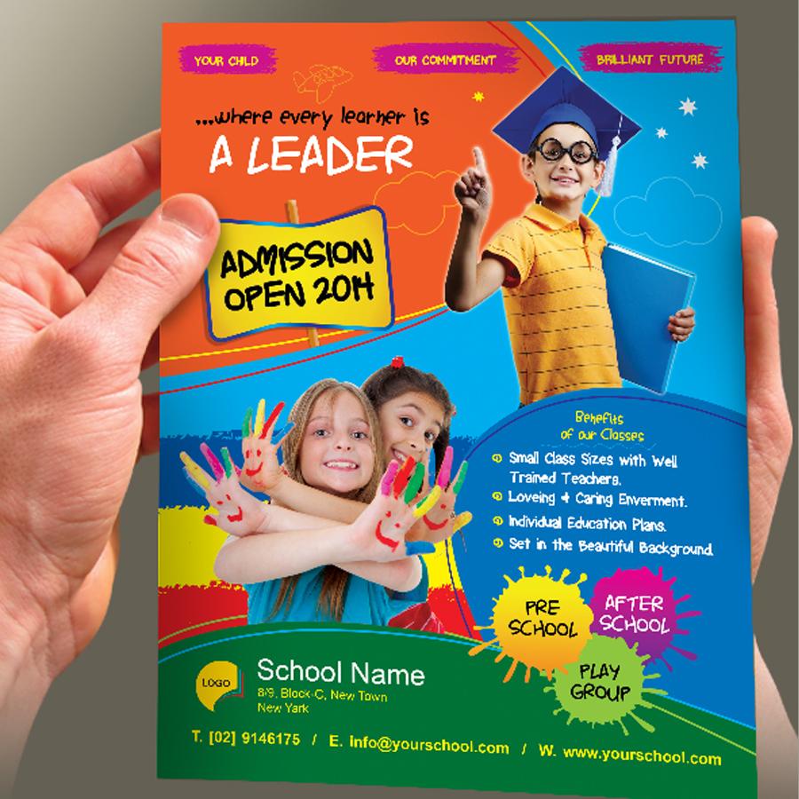 junior school admission flyer template on behance