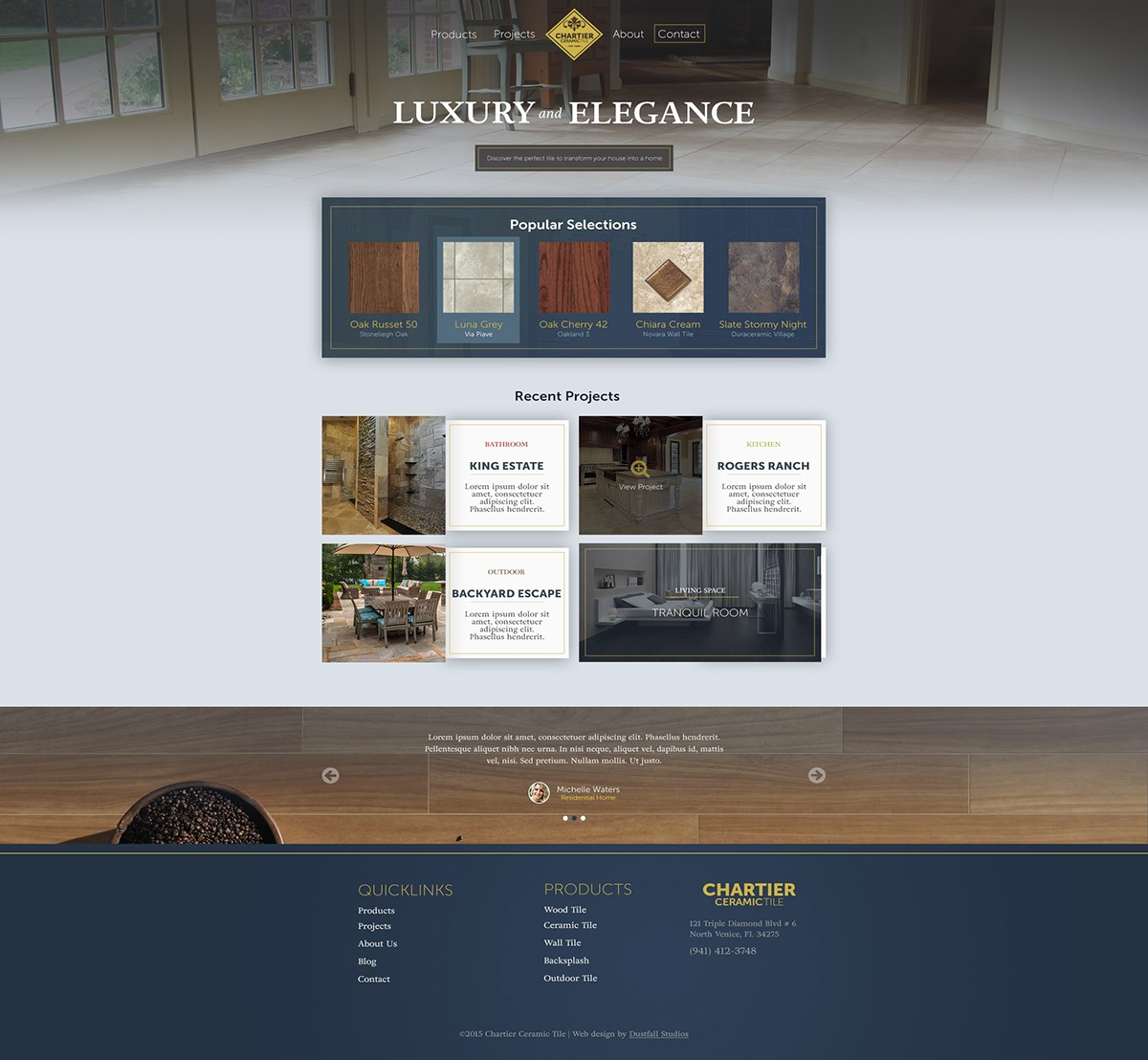 Chartier ceramic tile website homepage design on behance dailygadgetfo Images