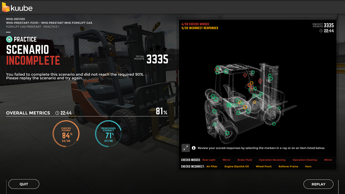 UI ux design branding  simulator game unity3D ia vr training