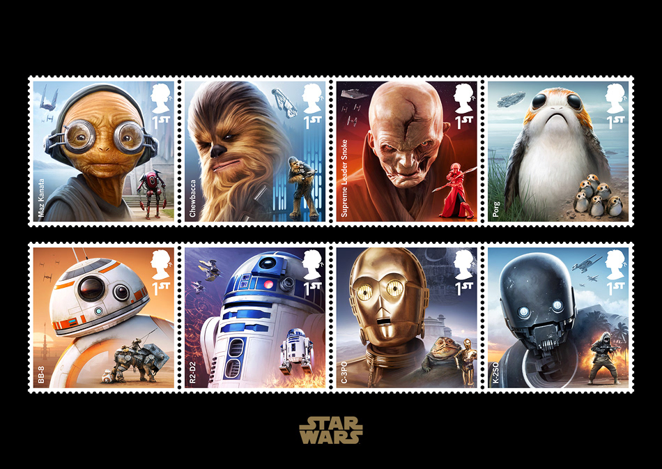 Royal Mail Star Wars Stamps 2017 On Behance