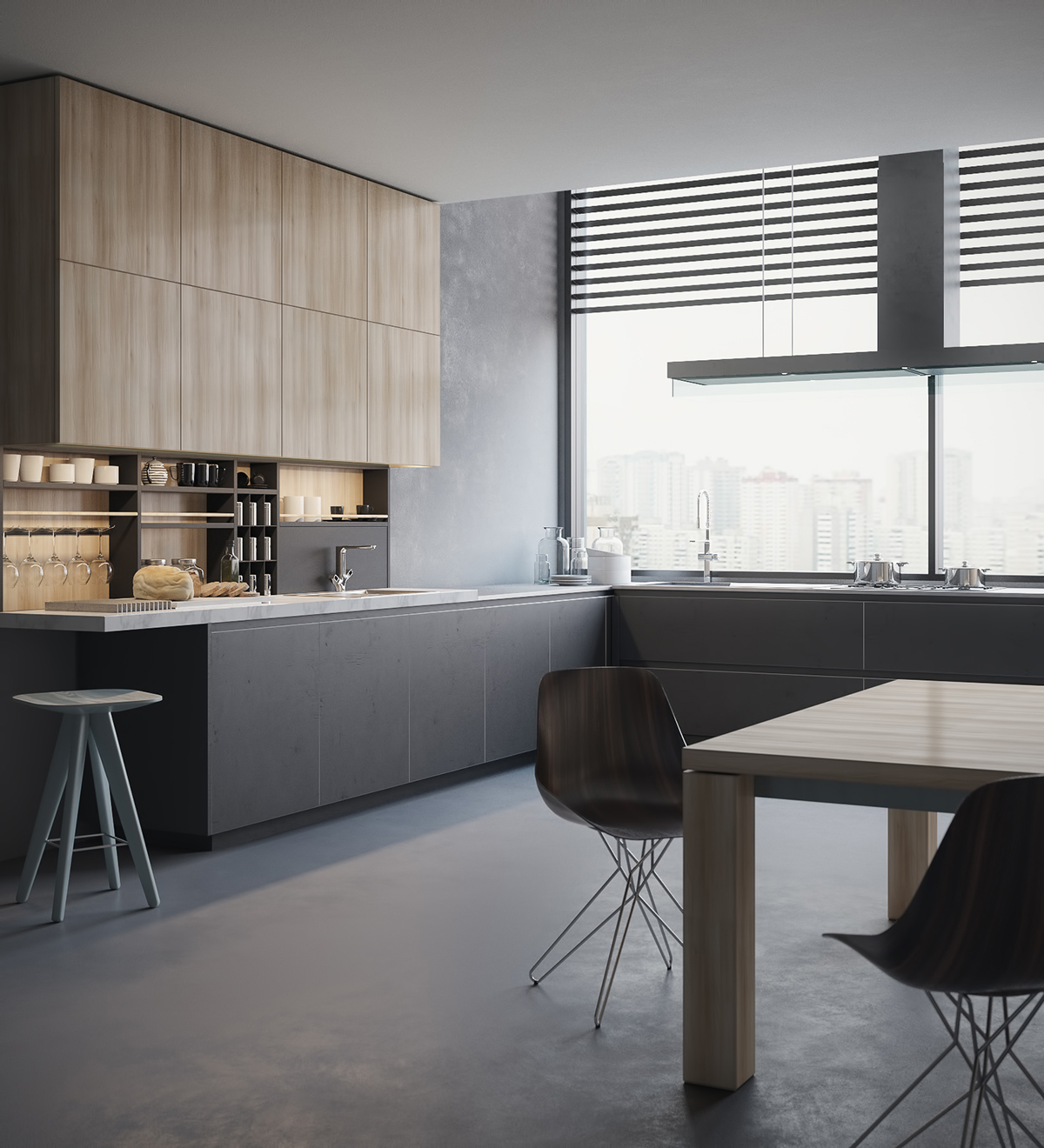 Kitchen 3D visualization Poliform on Behance