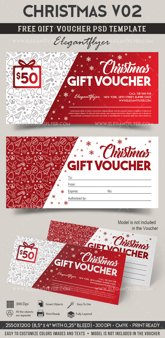 Christmas V30   FREE Gift Certificate PSD Template on Behance