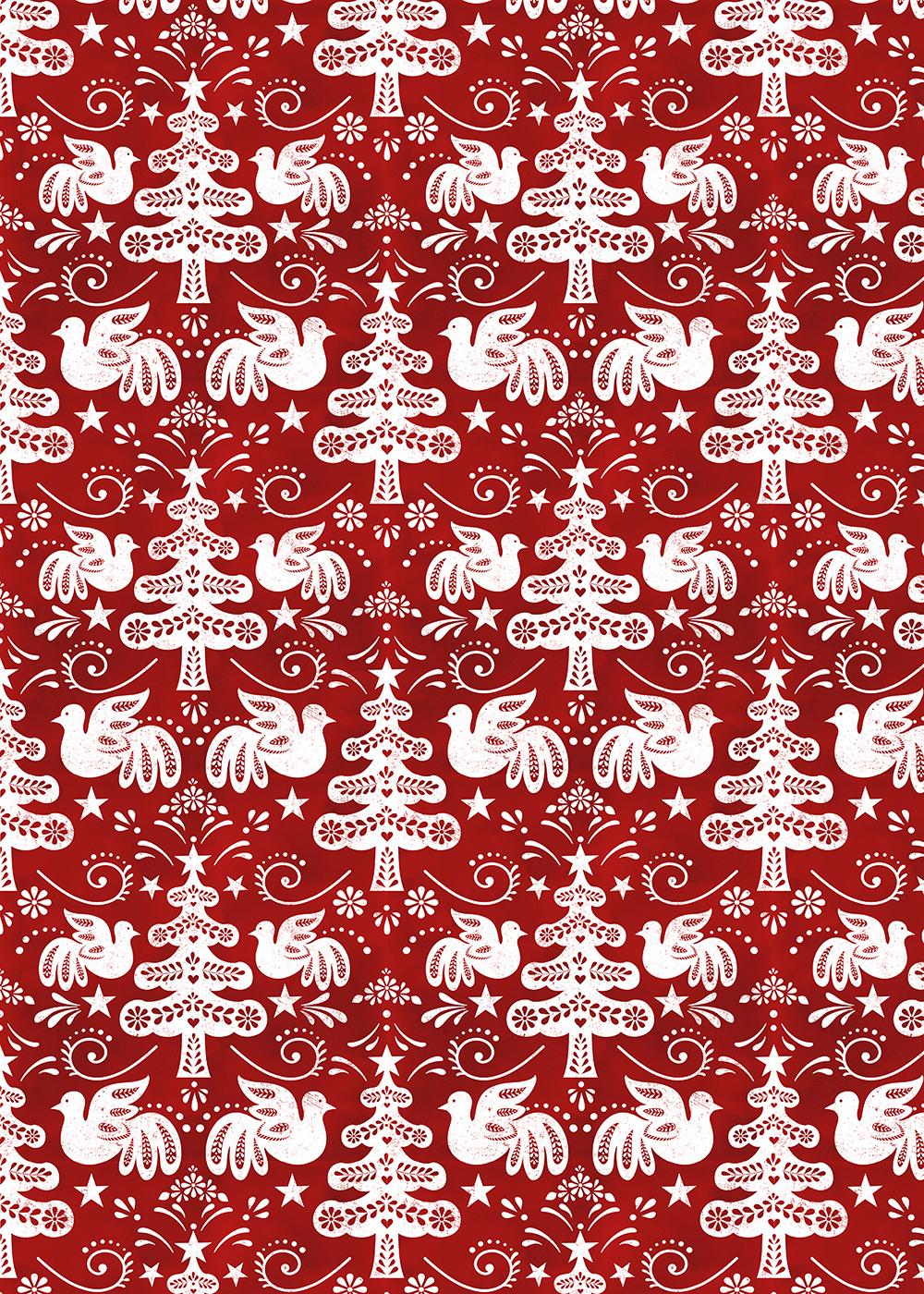 hygge Scandinavian folk art pattern winter Holiday Christmas xmas cozy