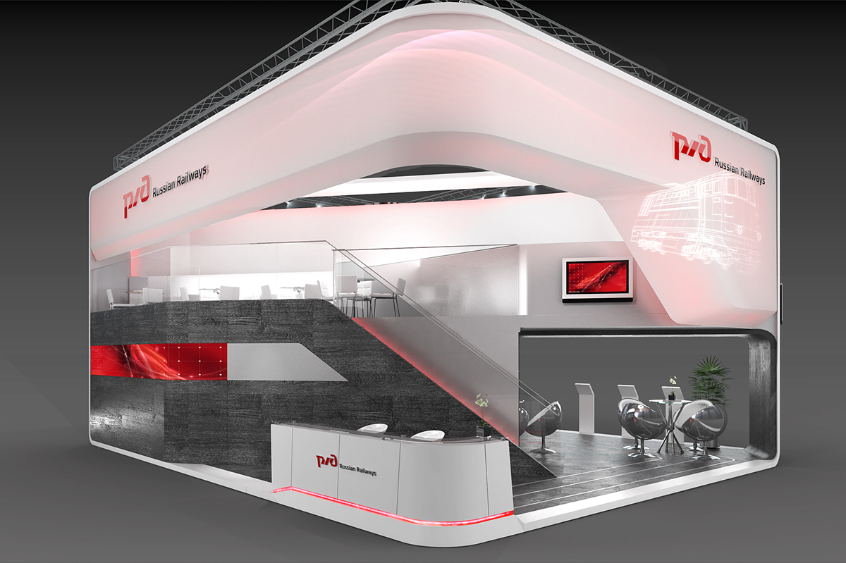 Exhibition Stand Russia : Russian railways on behance