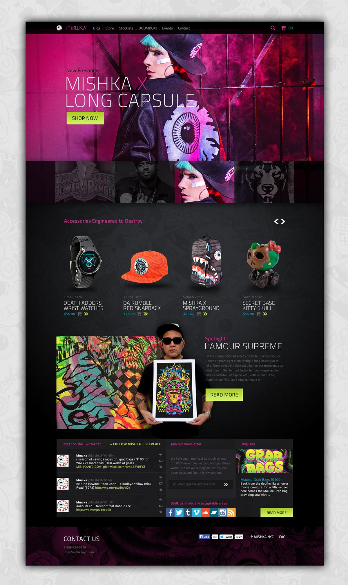Website Concept ui design Mishka