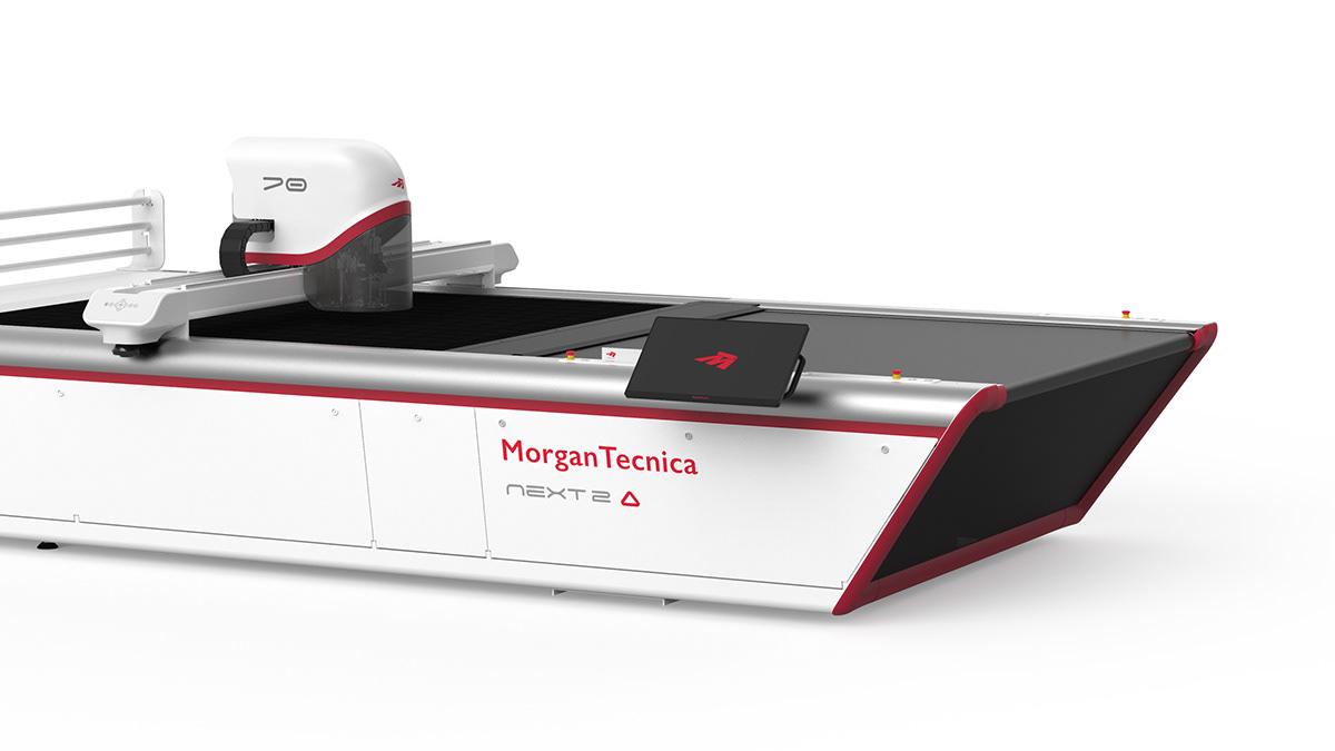 cutting design industrial design  machine company monitor multinationals Smart textile fabric