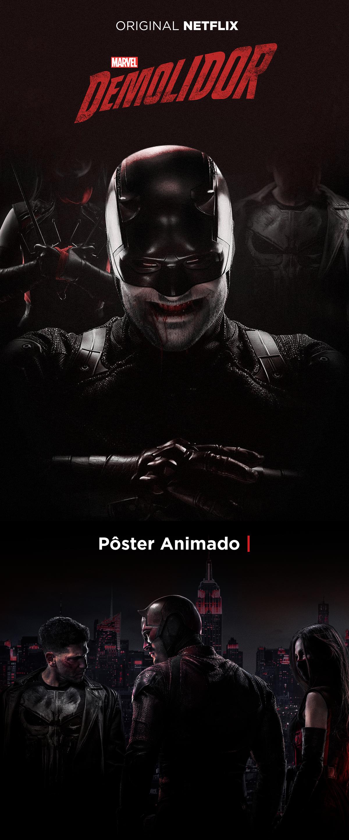 Netflix Daredevil Animated Movie Poster - Brazil on Pantone