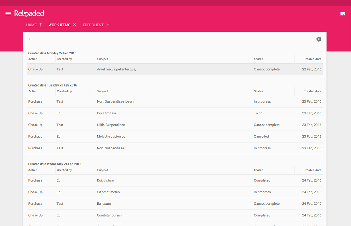 Reloaded material design cms wip on behance for Material design table