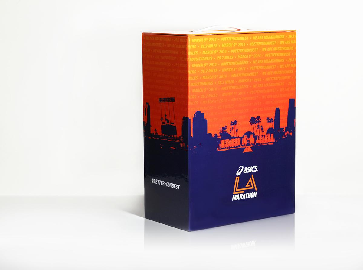 Asics LA Marathon Box on Behance