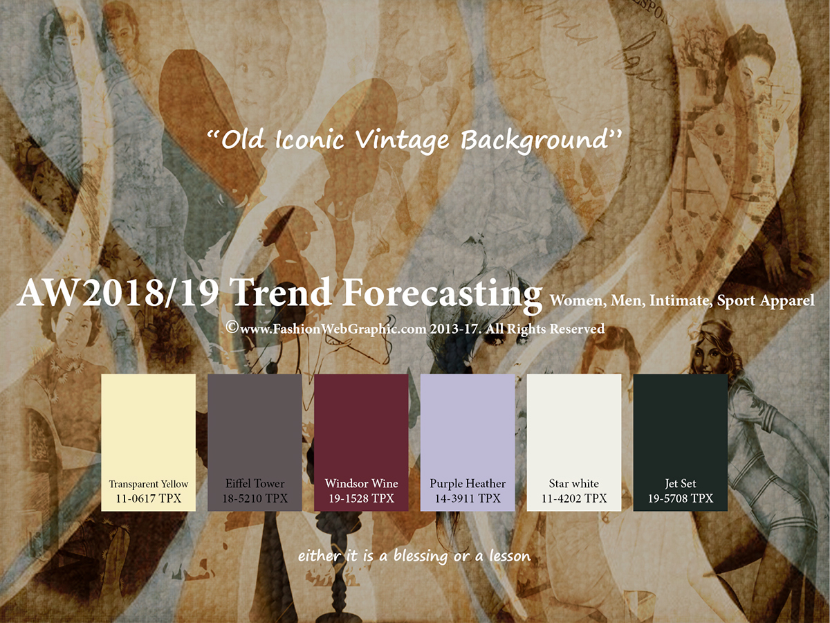 AW20182019 Trend Forecasting on 2017 Color Trends Spring Summer