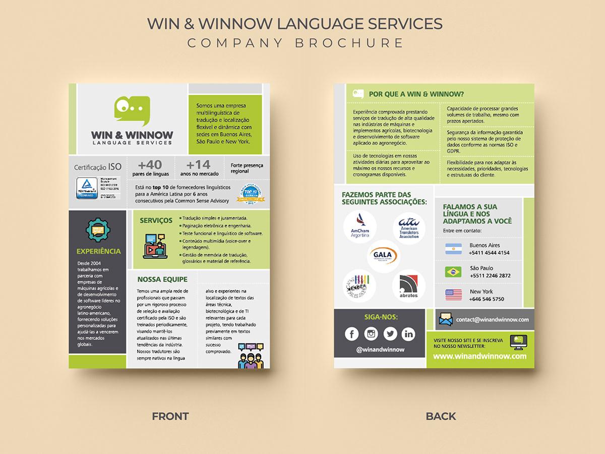 folleto corporativo brochure simple corporate graphic design  diseño gráfico